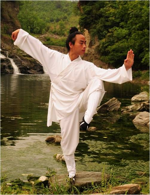 """Developed on Wu Dang Mountain about 700 years ago, Tai Chi promotes overall health and is an effective form of self-defense. It is often described as """"moving meditation"""" because it relieves stress and improves concentration"""