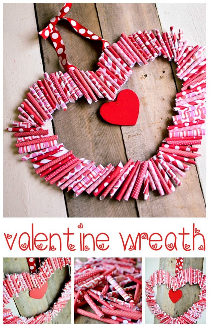 Use This Paper Valentine Wreath Tutorial to make a fun Wreath for Valentine's Day! Aniko from Place of My Taste Shows Us How!