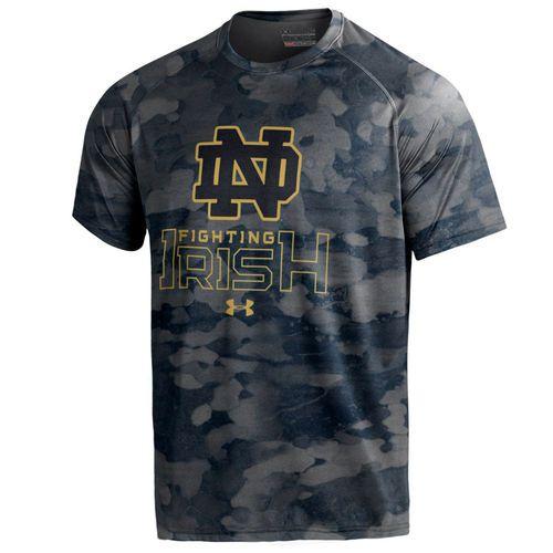 Men's Under Armour Navy Notre Dame Fighting Irish Tech Novelty Camo T-Shirt