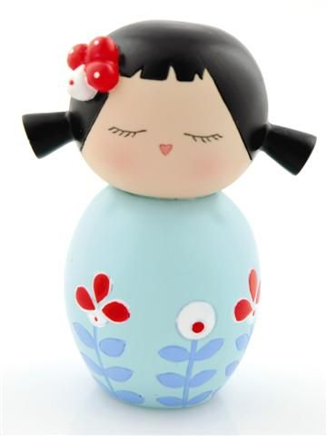 """""""Kokeshi"""" or """"doll"""" is a great souvenir/gift.  Sturdy and easy to pack.  This one is more modern, the classic ones are cute.  I have like, 10 ; )"""