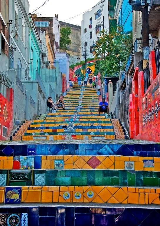 Brésil chic ! Some staircases in Rio