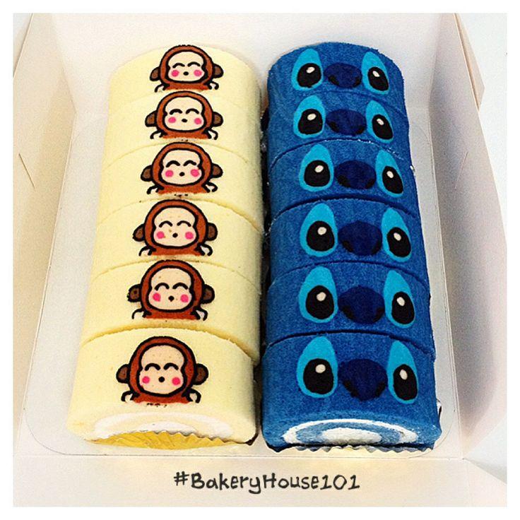 Paint Roll cake #BakeryHouse101
