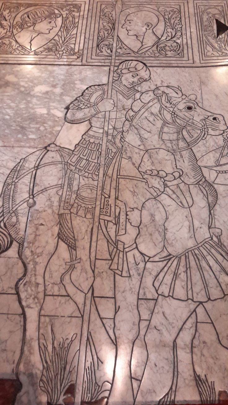 Pavimento del Duomo di Siena - Storia di Giuditta - Francesco di Giorgio Martini o Urbano da Cortona (attr., disegno) - 1473