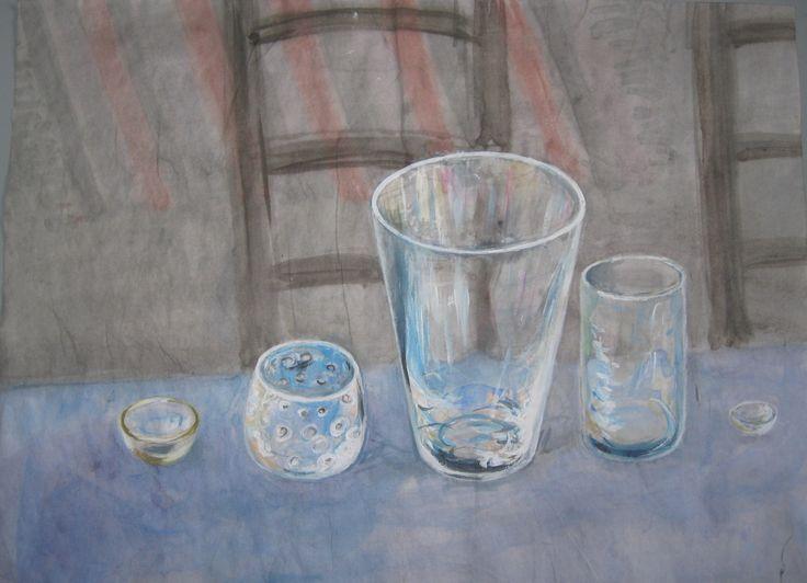 Sketch Glasses watercolor ©Asta Rudminaite 2015