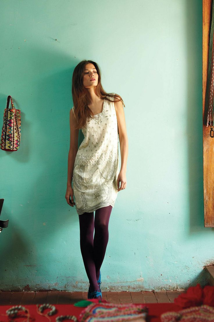 Wanting to wear bold tights and sequins for winter.