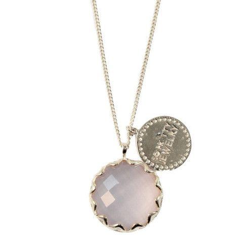 PINK QUARTZ & SILVER NECKLACE | Buy So Pretty Jewelry online
