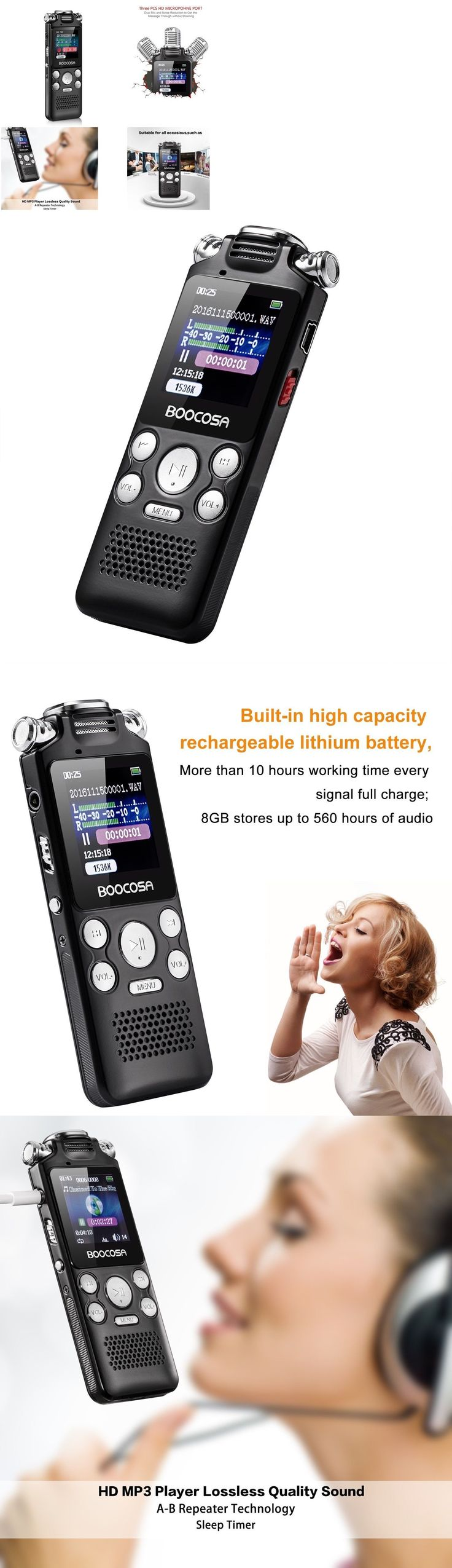 Voice Recorders Dictaphones: Digital Voice Audio Sound Recorder Portable Mp3 Music Dictaphone Sleep Timer 8Gb -> BUY IT NOW ONLY: $42.03 on eBay!