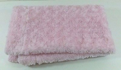 Little Dreams Boutique Pink Rose Bud Faux Fur Plush Baby Blanket Girls  B274