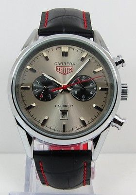 9bba3daf4ba Tag Heuer Carrera Calibre 17 Automatic Chronograph Jack Heuer Edition Gray