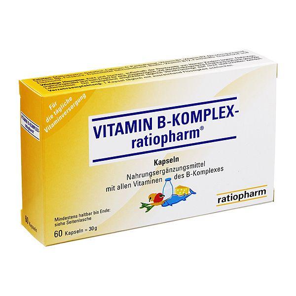 Vitamin B-Komplex-ratiopharm Kapseln, 60 St | PZN: 4132750 | HERSTELLER: ratiopharm GmbH | • Mit allen Vitaminen des B-Komplexes, die an wichtigen Stoffwechselvorgängen im Körper beteiligt sind >> http://www.juvalis.de/4132750/vitamin-b-komplex-ratiopharm-kapseln << #Apotheke #Nahrungsergaenzungsmittel #Vitamine