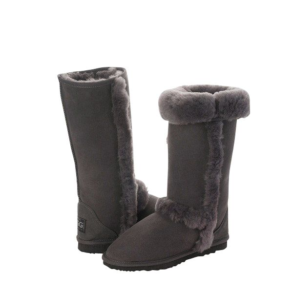 Arctic Tall Grey Boots, Australian Made Sheepskin, #aussie #australianmade #sheepskin #boots #tallboots #shoedreams #comfy #cute #warm #indoors #home #outdoors #shoesaholic #grey #greyboots #styling #fashion #outfit #fashioninspiration