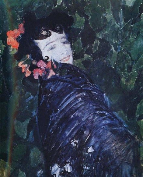 Alexander Golovin, Spanish Woman 1902 on ArtStack #alexander-golovin #art