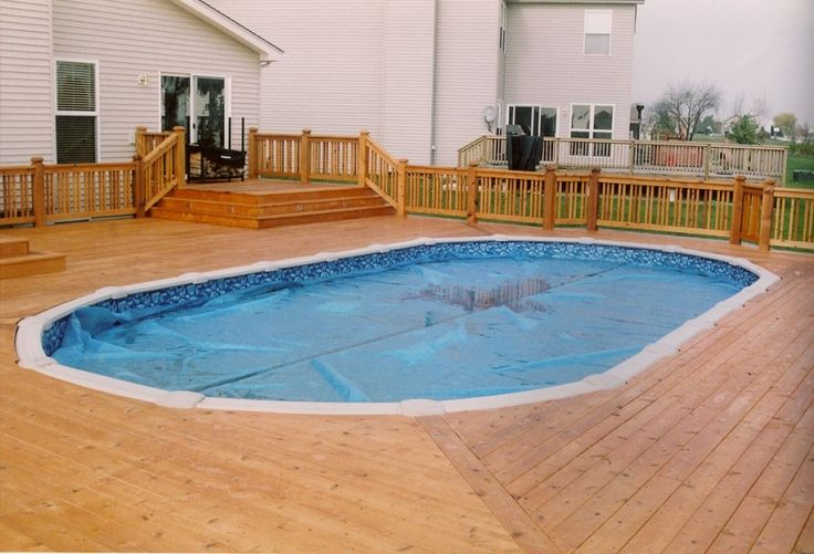 Above Ground Pools Decks Idea | ... Shaped Above Ground Swimming Pools Ideas also Pool Deck Lighting Ideas