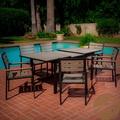 Christopher Knight Home Laguna Black Frame Outdoor 7-piece Dining Set   Overstock.com
