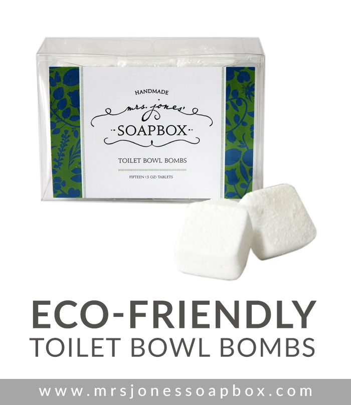 Think of these as an Alka-Seltzer for your toilet! The Mrs. Jones' Soapbox Toilet Bowl Bombs will leave you with a sparkling clean toilet and a fresh smelling bathroom. More info: http://mrsjonessoapbox.com/collections/product-line/products/toilet-bowl-bombs #ecofriendly #cleaning #house #bathroom