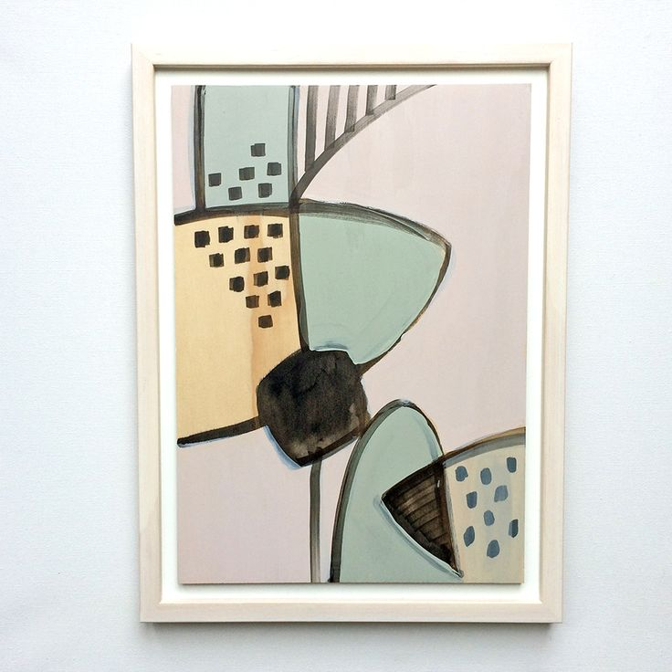 'Counterpoint' original painting on ply by Georgie Hoby Scutt for Belle Hawk