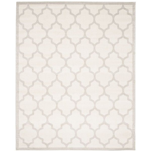 """Safavieh Amherst Indoor/Outdoor AMT420E Beige/Light Grey 2'6"""" x 4'... ($99) ❤ liked on Polyvore featuring home, rugs, no color, outside rugs, beige area rugs, cream area rug, outdoor area rugs and ivory rugs"""