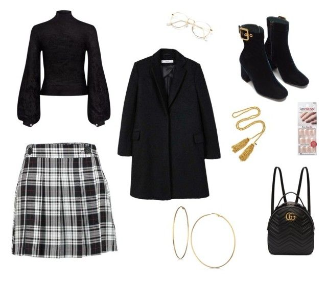 """""""Untitled #34"""" by sofiabaaima ❤ liked on Polyvore featuring A.L.C., MANGO, Gucci, GUESS and Kenneth Jay Lane"""