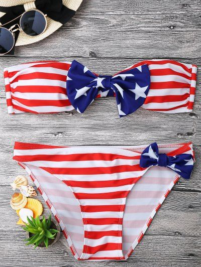 GET $50 NOW   Join Zaful: Get YOUR $50 NOW!http://m.zaful.com/bow-american-flag-patriotic-bandeau-bikini-set-p_283544.html?seid=3124822zf283544