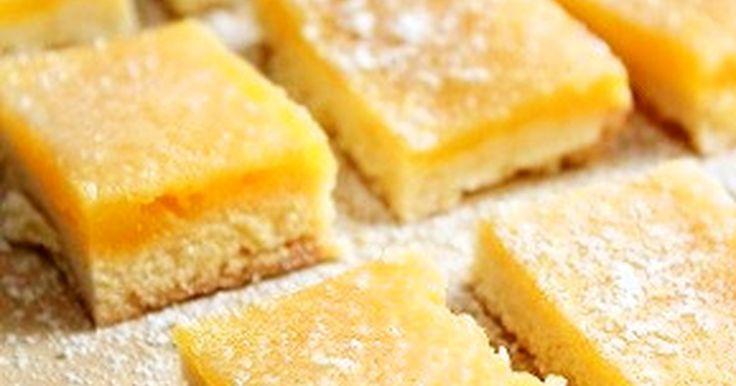 甘酸っぱくて爽やか♥タルト生地とレモンフィリングの相性抜群!アメリカでレモンスクエアと呼ばれるお菓子です♪