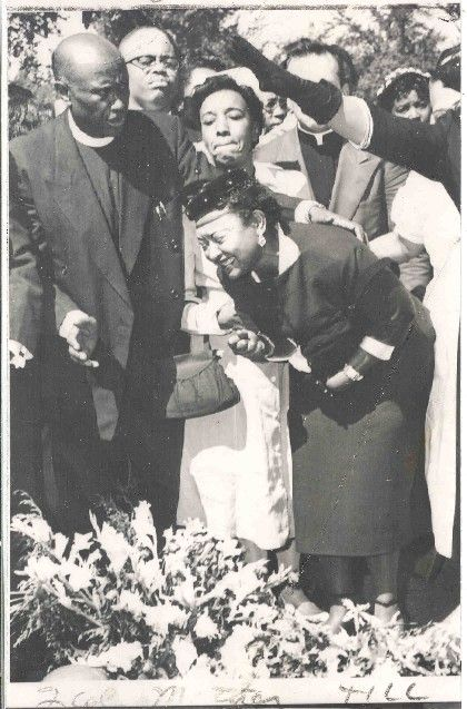 Mamie Till...young Emmett Till's mother at her child's funeral.