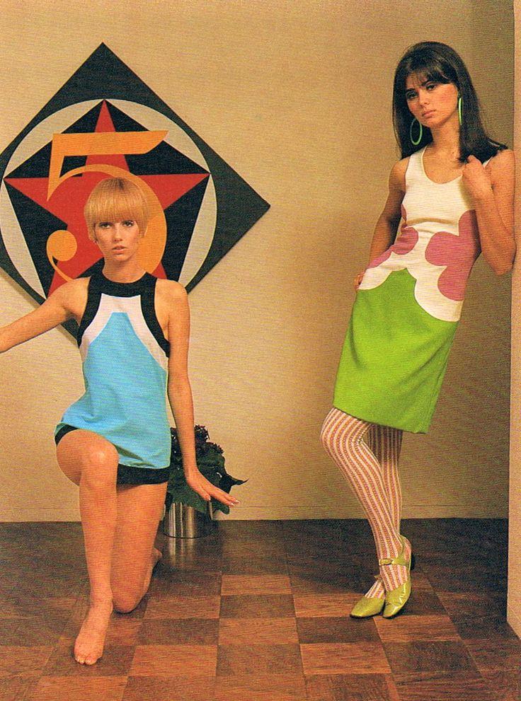 Mod Designs By John Kloss 1966 60sfashion 60sdresses Moddresses Swinging 60s And 70s Style