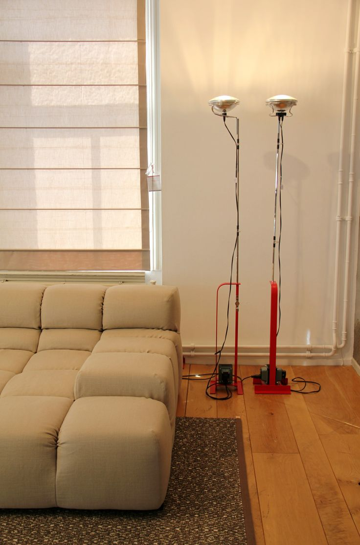 Floorlamp Toio colour red by FLOS.