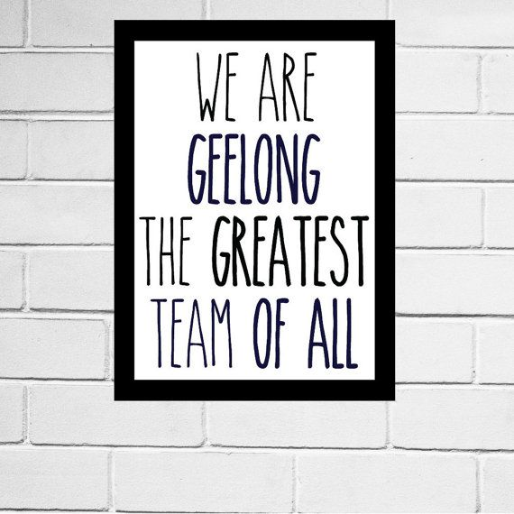 Geelong FC - Geelong Cats - AFL football club song print - Digital Download - All AFL clubs available