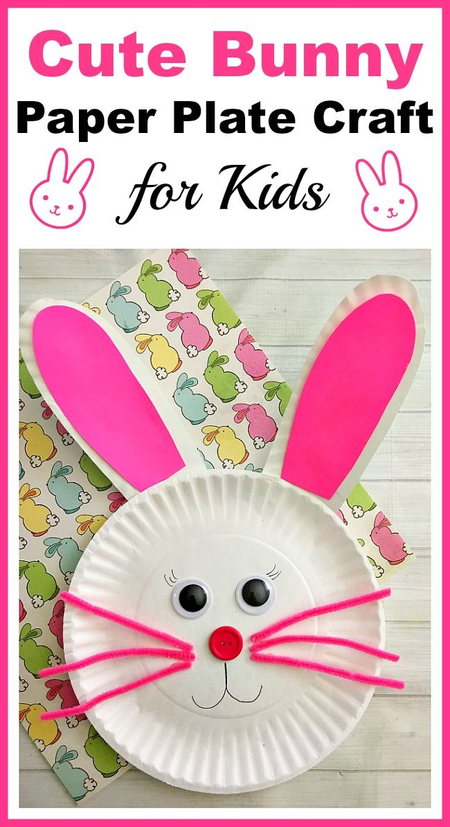 DIY Craft: Cute Bunny Paper Plate Craft for Kids- Paper plate crafts are an inexpensive and fun way to keep kids busy! Great for a spring break actiity! |DIY spring craft, rabbit, Easter, kids craft, kids activity, easy craft