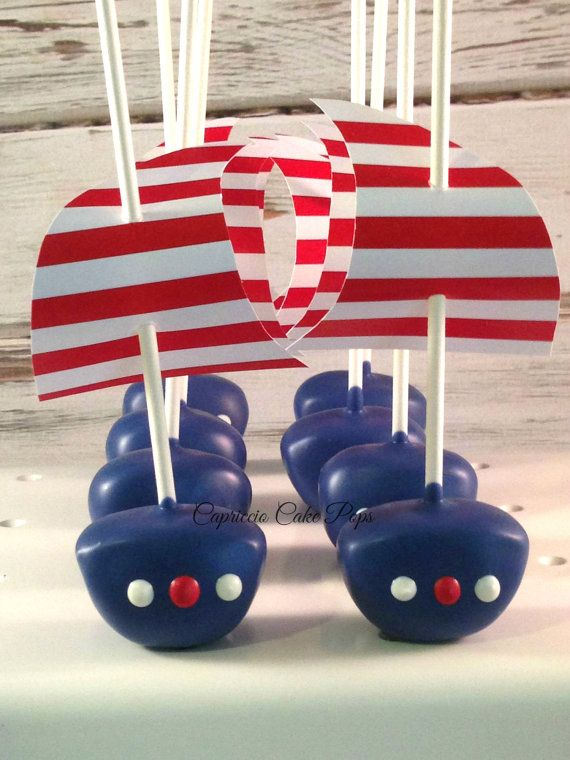 Baby shower favors, Nautical, baby shower, sail boat birthday inspired cake pops