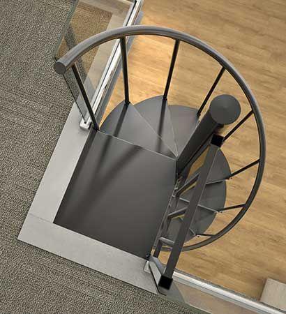 Metal Spiral Staircase Kit-The Otto Prefab Stair-DIY ...