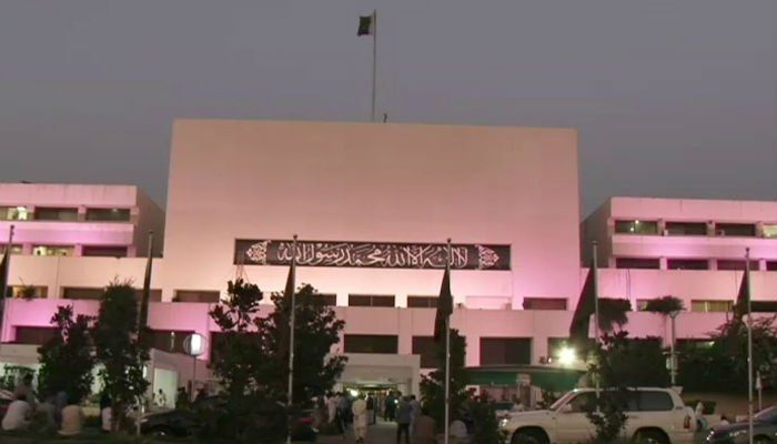 Parliament House goes pink for breast cancer awareness | Pakistan - https://www.pakistantalkshow.com/parliament-house-goes-pink-for-breast-cancer-awareness-pakistan/ - https://www.geo.tv/assets/uploads/updates/2017-10-03/160982_1031568_updates.jpg