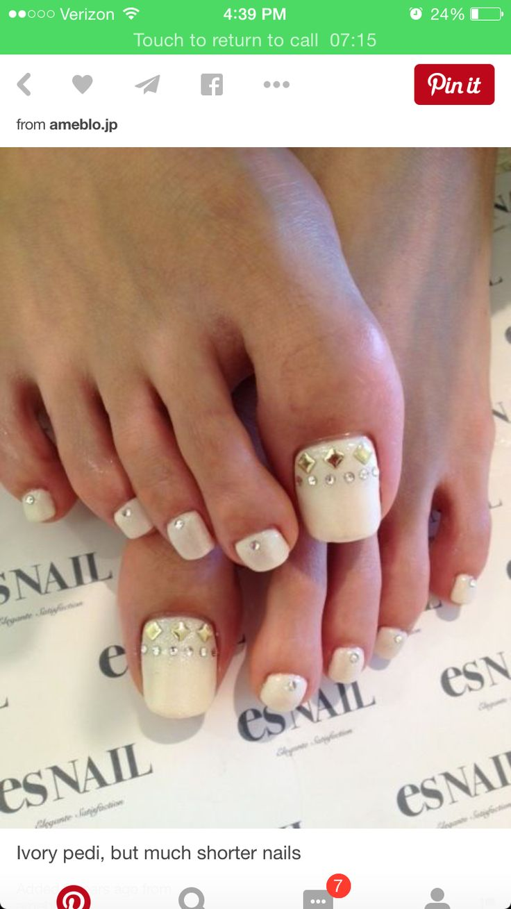 White Gel Nail Polish On Toes | Hession Hairdressing