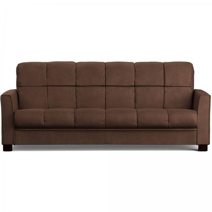 Cheap Sectional Sofas Microfiber Sofa Bed Futon Set Brown Tufted Mattress Adjustable Sleeper Couch