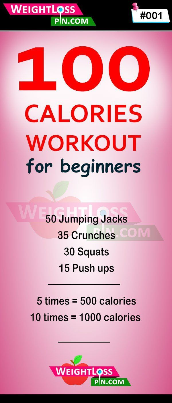 100 calorie workout: A fast way to burn 100 calories in no time. Effective work – Food & Fitness