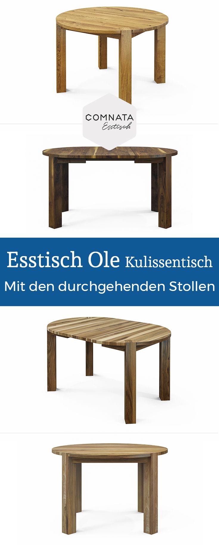 Esstisch Ole Kulissentisch aus Massivholz   Bei COMNATA