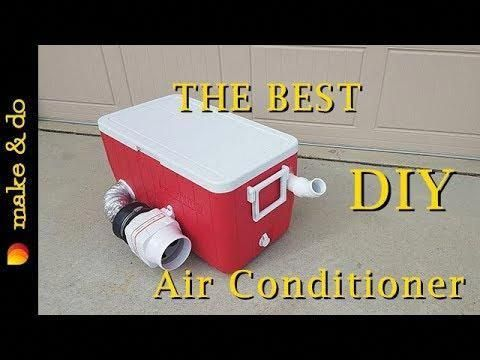 The BEST DIY Moveable Air Conditioner!!! Runs off 12 volt battery, automobile, or photo voltaic!