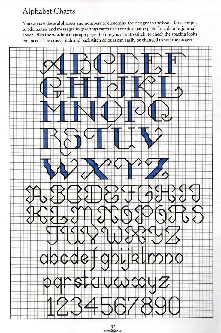 67 Best Cross Stitch Alphabets Images On Pinterest Cross