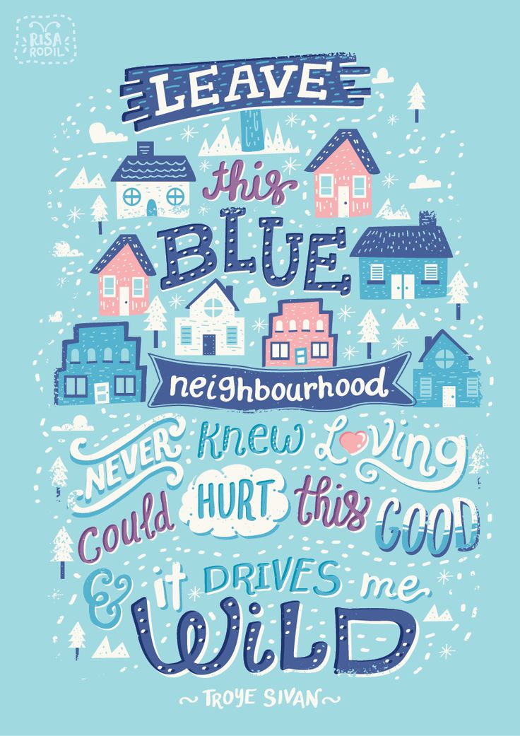 Blue Neighbourhood Lyric Posters on Behance