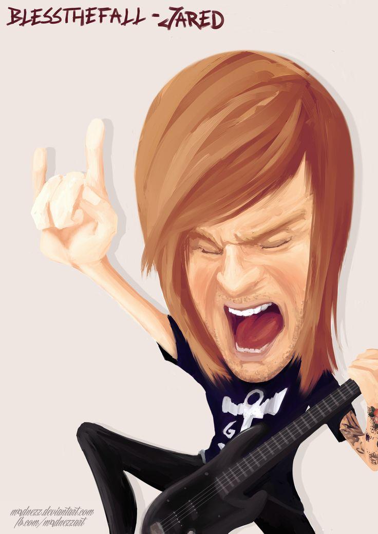 www.fb.com/m4dnezzart  Jared - Blessthefall #blessthefall #jared #music #digital #drawing #fan