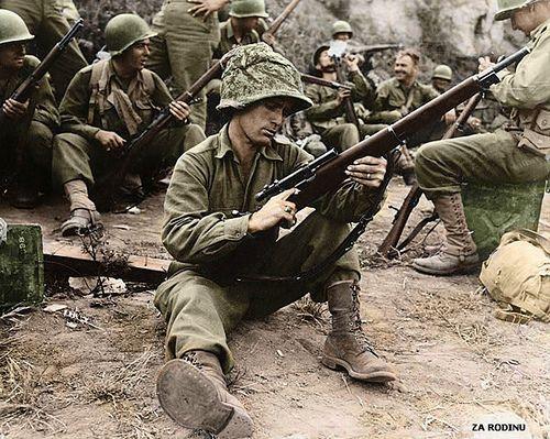 U.S. Army sniper Edward J. Foley of Methuen, Massachusetts - Italy 1944 WWII. PHOTO CREDIT:Za Rodinu.