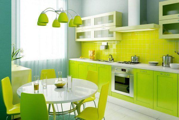 Cores fluorescentes para a cozinha