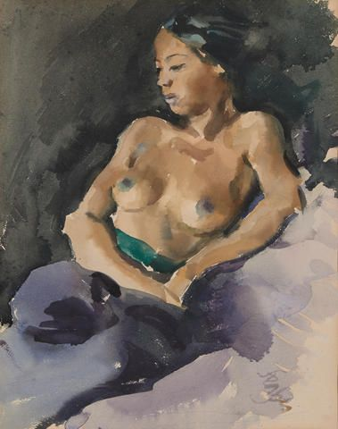 Roland Strasser (Austrian, 1895-1974)  Untitled (Topless Woman)