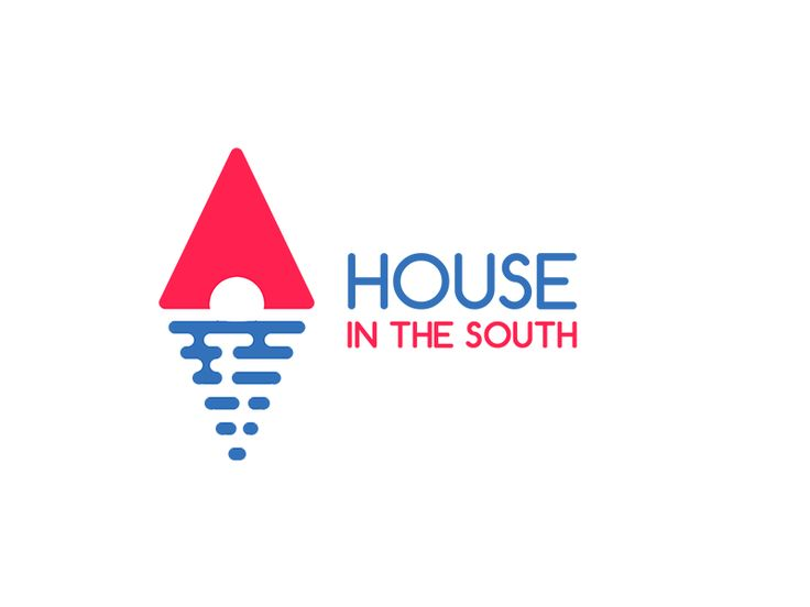 Логотип для агентства недвижимости или гостевого дома на берегу моря