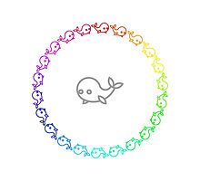 Rainbow Whale Ring by silverjade
