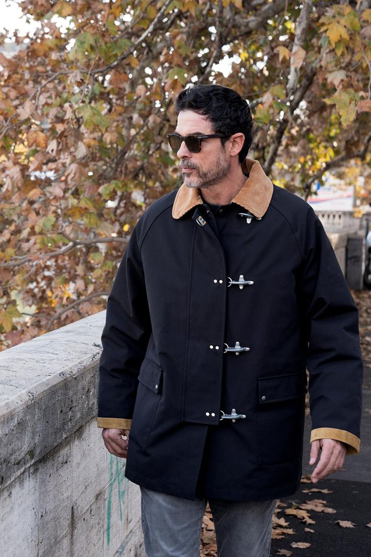 Always on the move: Alessandro Gassmann chose the metropolitan allure of the iconic Fay 4 Ganci Coat.
