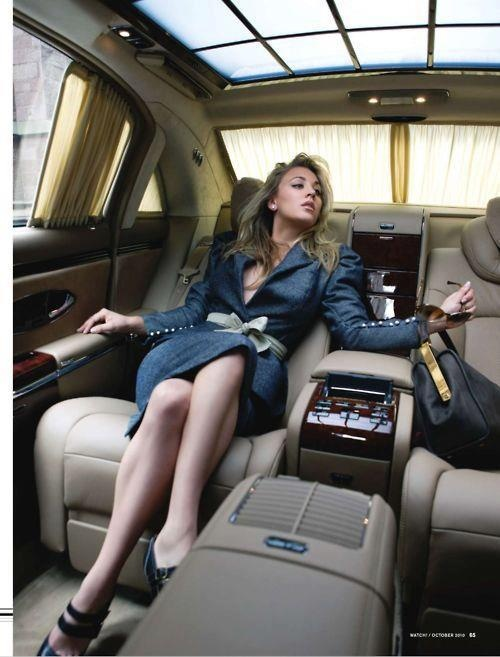 nice lady in a nice car - Maybach ?