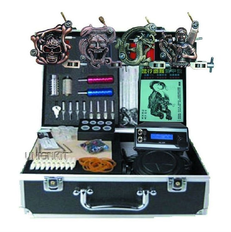 Tattoo Complete Kits: New Professional Tattoo Machine Kits With High Lcd Power Equipment Supply Set BUY IT NOW ONLY: $56.8