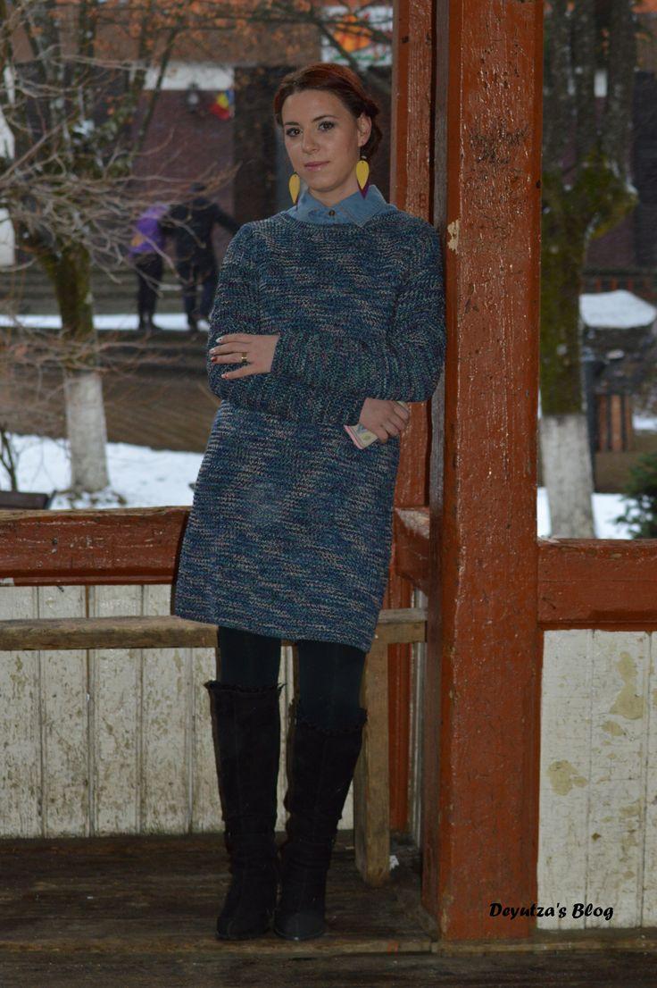 http://deyutza87.blogspot.ro/2016/02/ootd-cum-purtam-rochia-tricotata.html #shein #ootd #outfit #fashion #dress