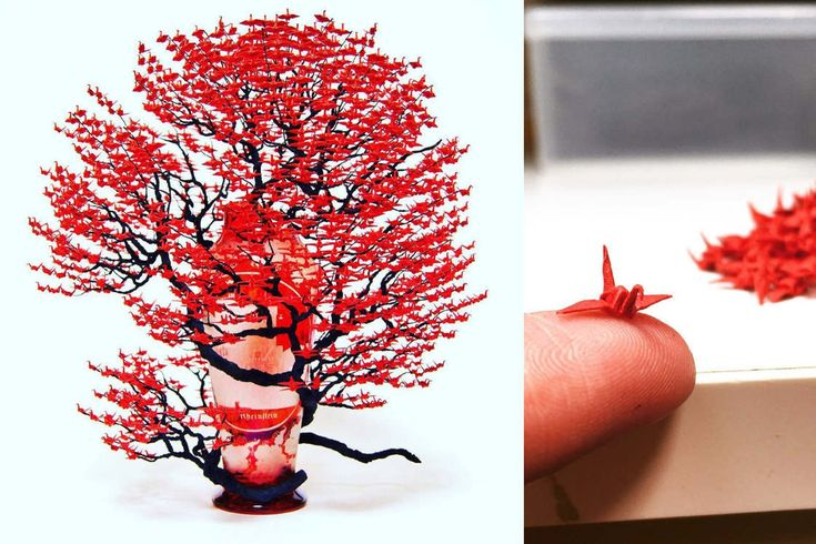 Amazing bonsai made of thousands of miniature origami | Ufunk.net